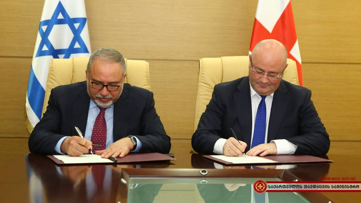 Israeli, Georgian Defense Ministers Pledge to Deepen Ties