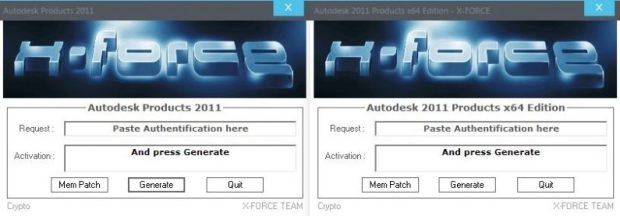Autodesk 2011 All Products Keygen by X-Force