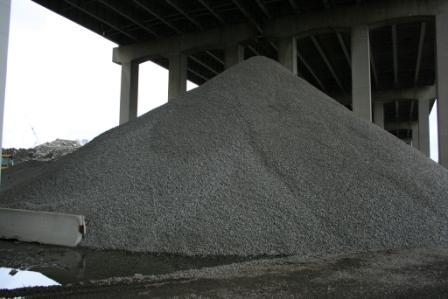Shading Stockpile of Aggregate