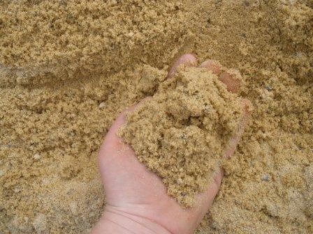 Field test on sand