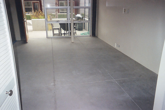 Cement concrete flooring