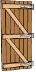 battened and ledged door