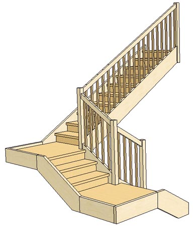 Quarter Turn Stairs