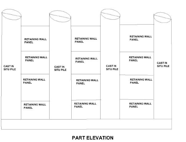 Top down construction part elevation