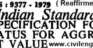 is_9377_1979_specification_for_apparatus_aggregate_impact_value