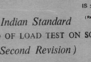 IS 1888 19822 INDIAN STANDARD METHOD OF LOAD TEST ON SOILS