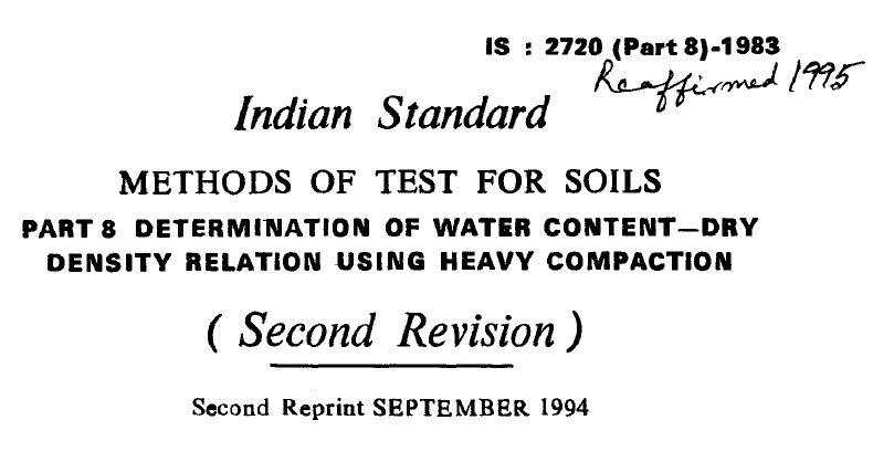 IS-2720-PART 8-1983 INDIAN STANDARD METHODS OF TEST FOR
