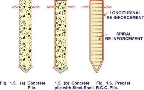 concrete pile,concrete pile with steel shell,precast RCC pile