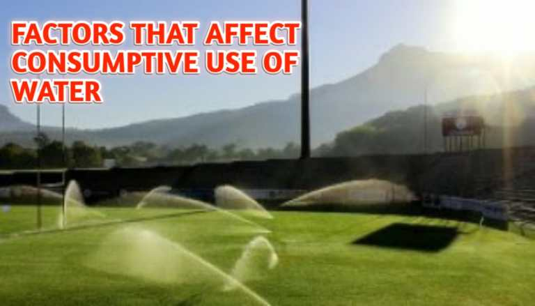 Read more about the article Factors affect consumptive use of water