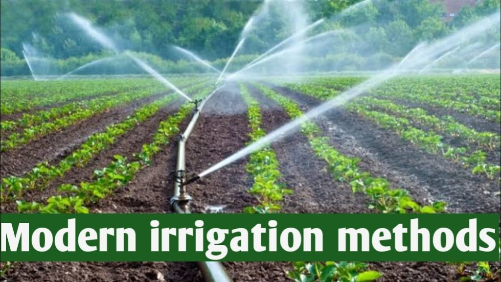 Modern Methods of Irrigation