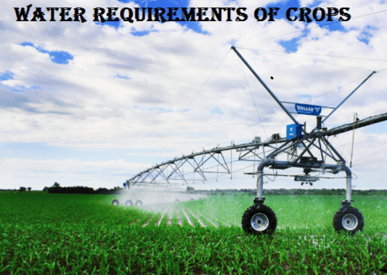 WATER REQUIREMENTS OF CROPS