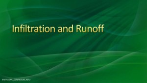 Run-off by using infiltration characteristics
