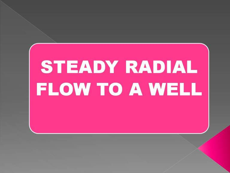 Read more about the article Steady radial flow to a well