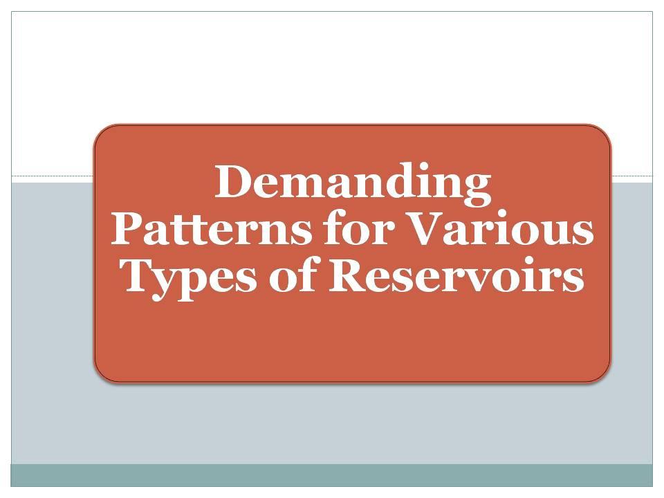 Demanding Patterns for Various