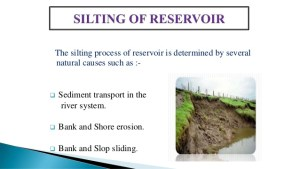 Silting Power of reservoirs