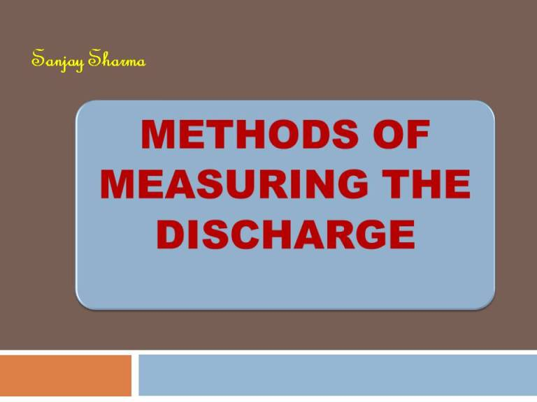 Read more about the article Methods of measuring the discharge