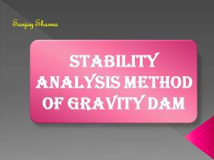 Stability analysis method of gravity dam