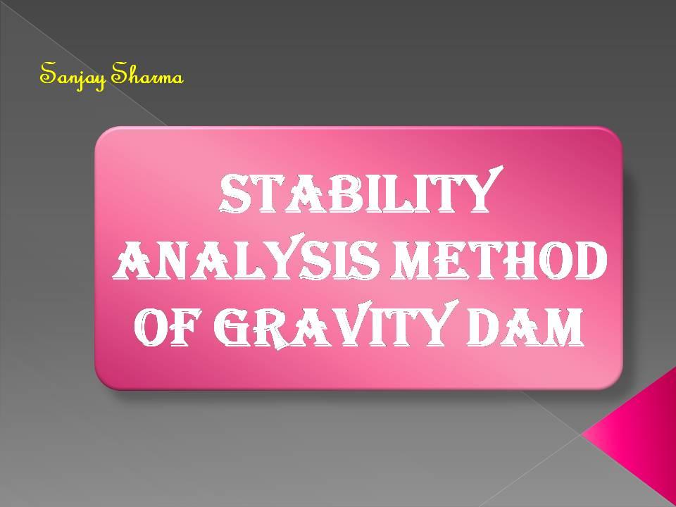 Stability analysis method of gravity dam