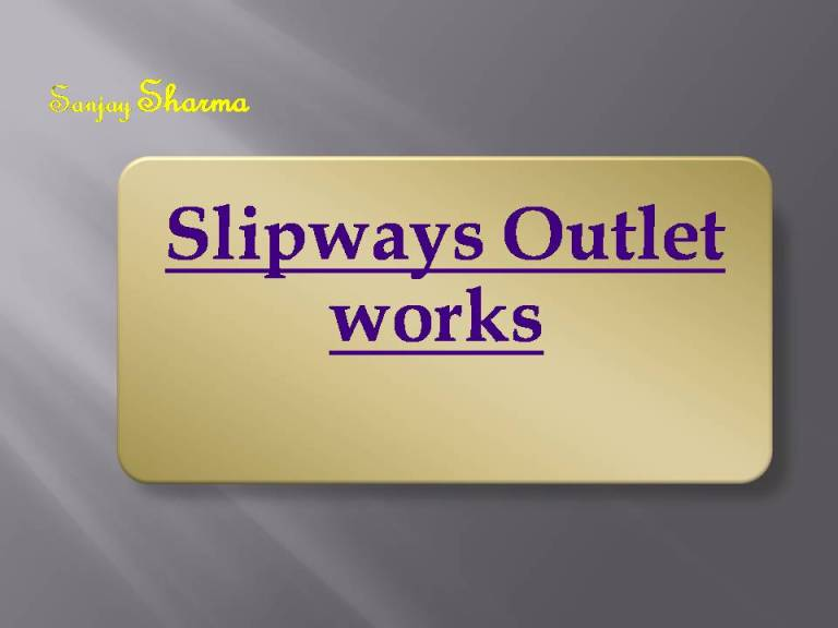 Read more about the article Slipways Outlet works