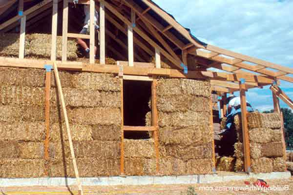 green building materials straw bale