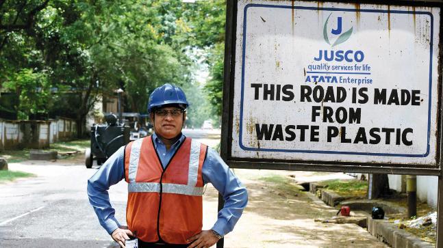 plastic roads in India
