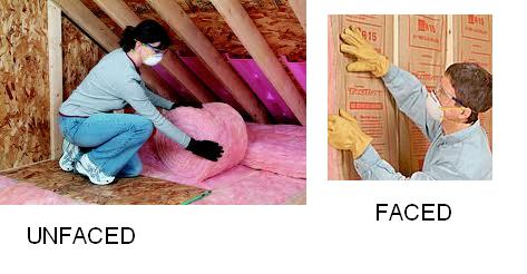 Faced Vs Unfaced Insulation Garage