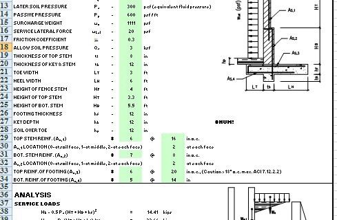 masonry wall design software design of masonry retaining wall in