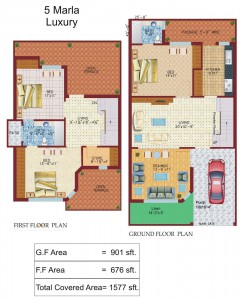 5 Marla house Plans - Civil Engineers PK