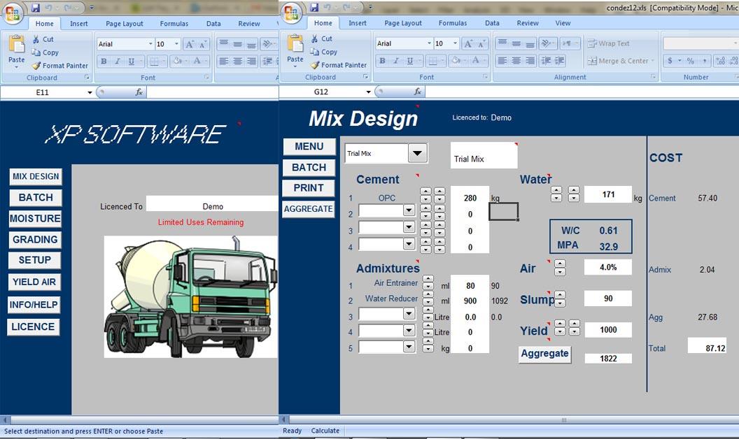 Concrete Mix Design Softwares