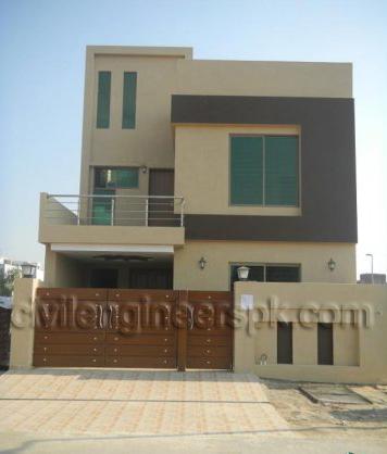 Front Views - Civil Engineers PK on map design, 10 marla house design, front room one wall design, simple wood gate design, living room tv design, home design,