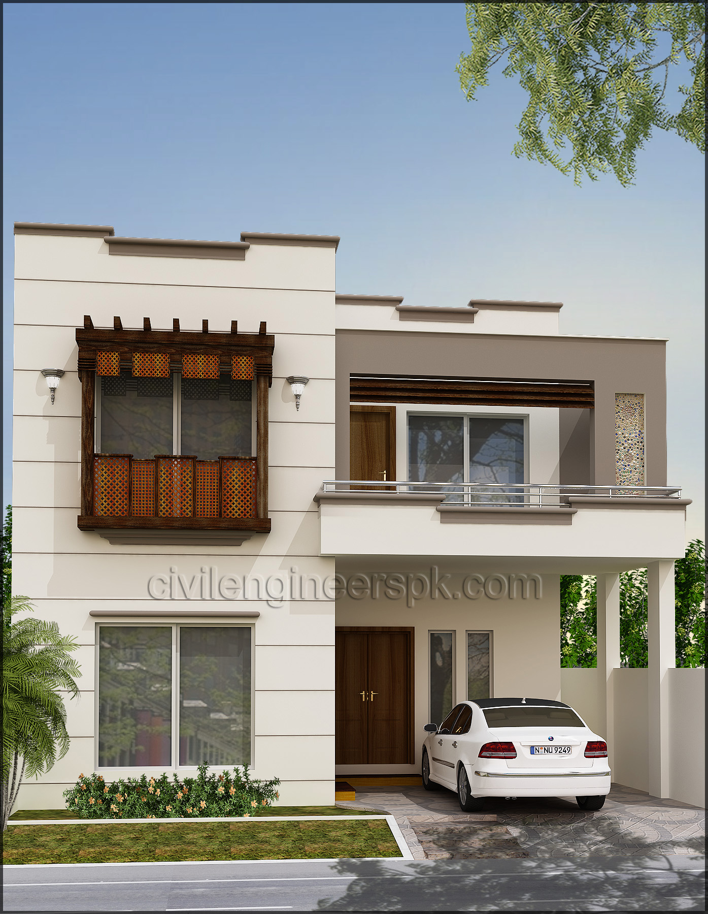 Front View Elevation Of House Plans : House front views civil engineers pk