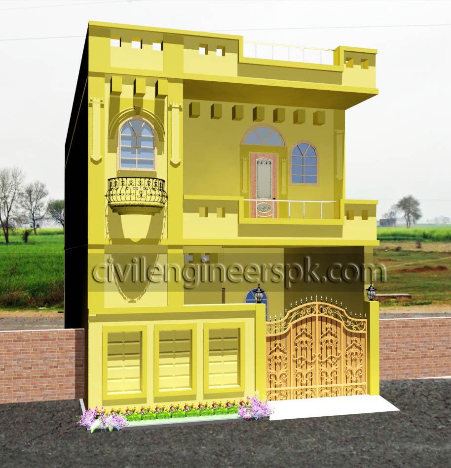 21 5′ x 45 5′ house design