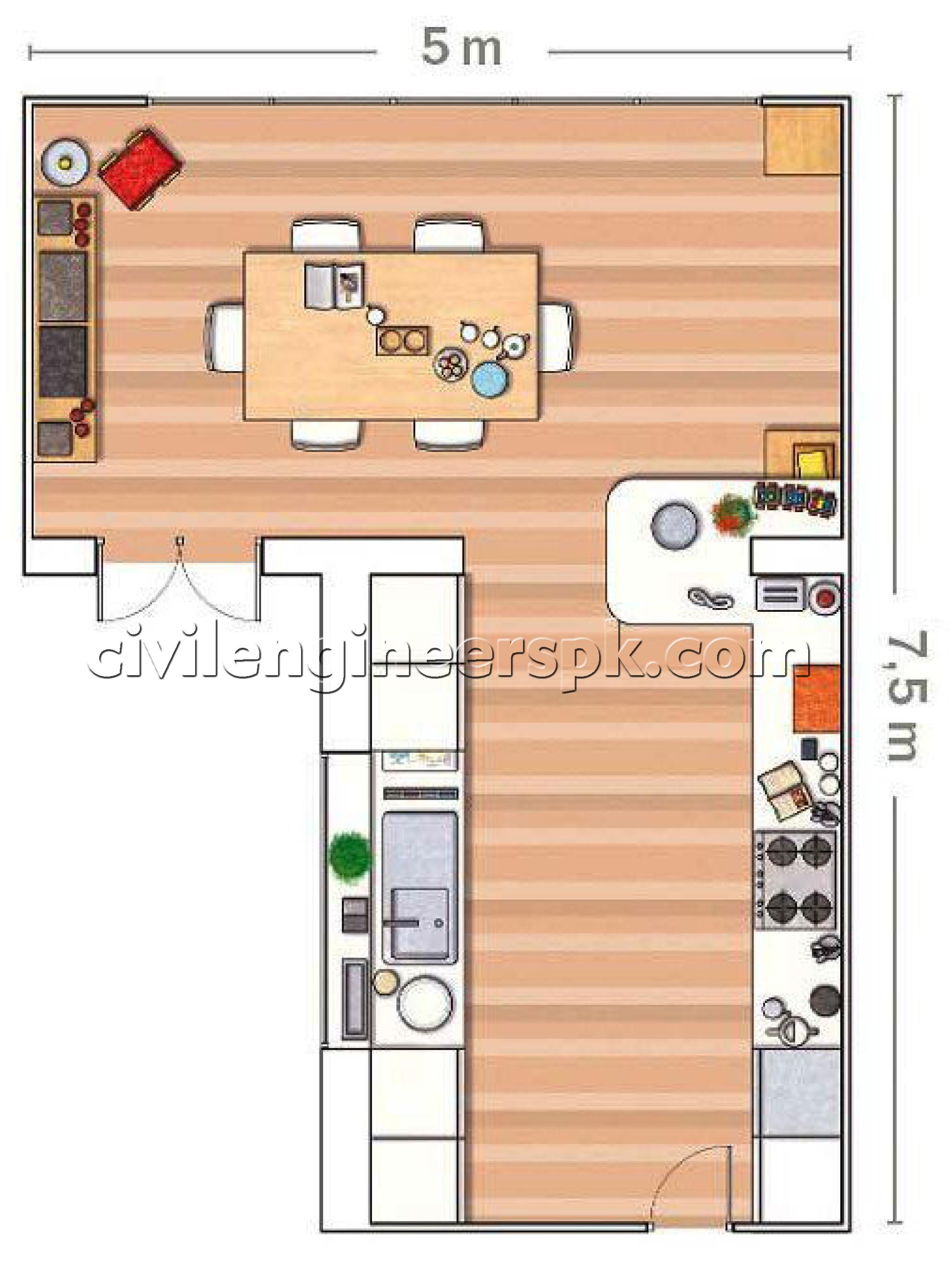 Kitchen house plan hottest home design for Civil kitchen designs