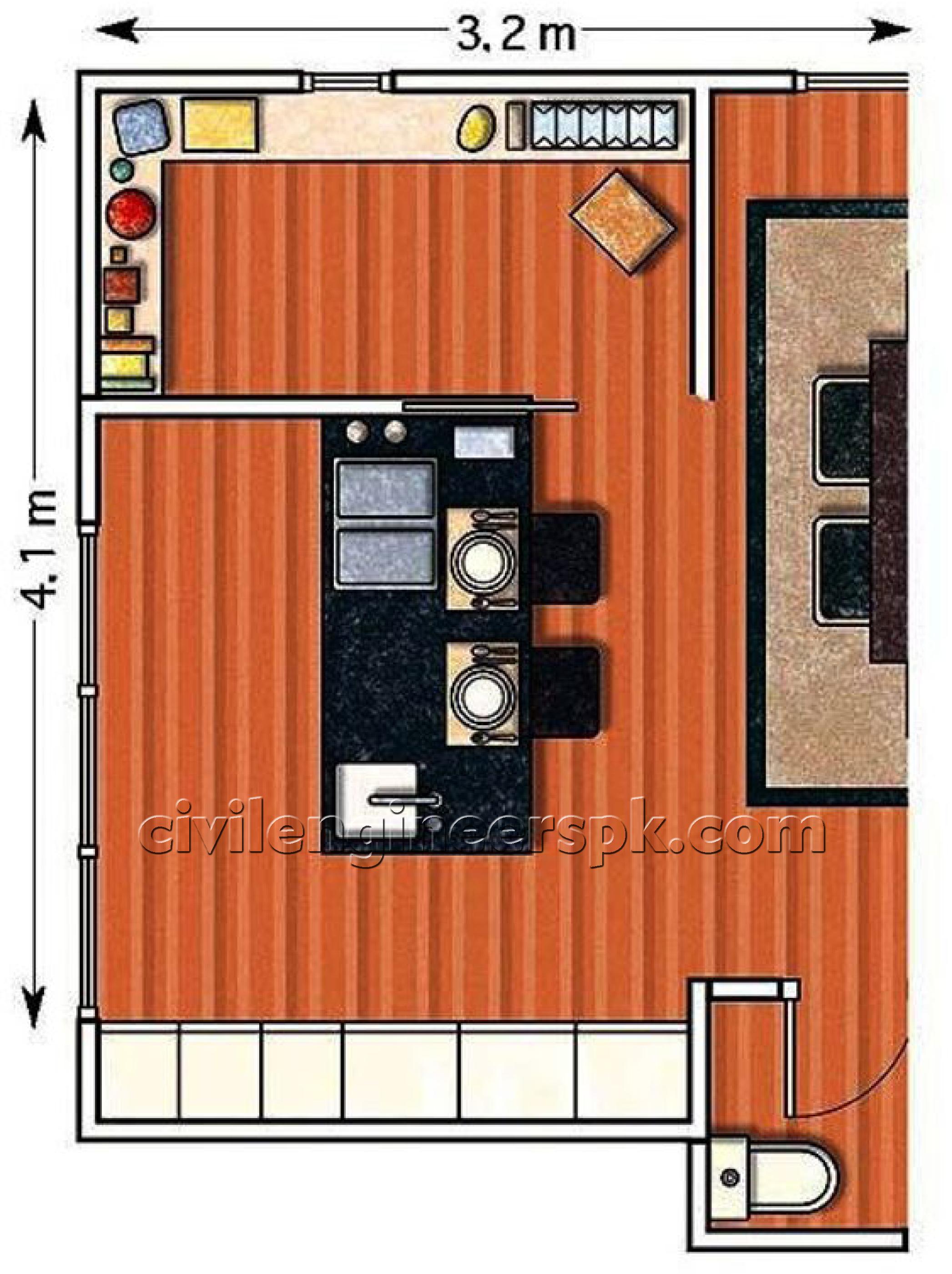 Kitchen design 9 civil engineers pk for Civil kitchen designs