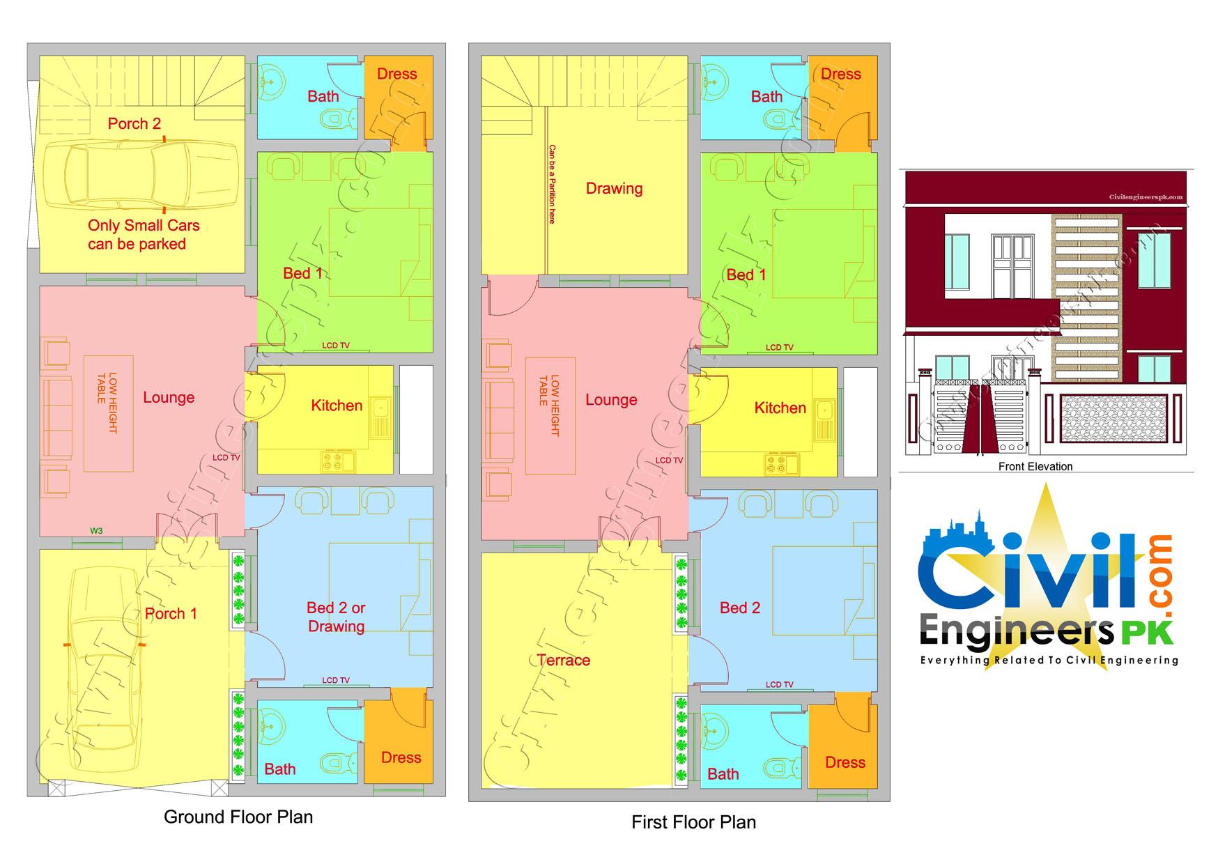 Hanok Floor Plan 5 Marla House Plan 2d House Design Plans