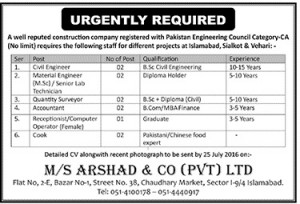 Required Civil Engineer