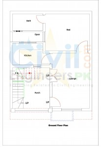 3 Marla House Plans - Civil Engineers PK