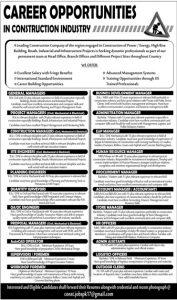 Career Opportunities in Construction Industry