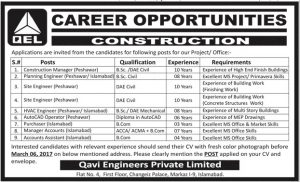 Construction Career Opportunities in QEL