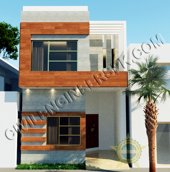 Latest House Designs In Pakistan: New 3 Marla House Design For Mr. Abrar