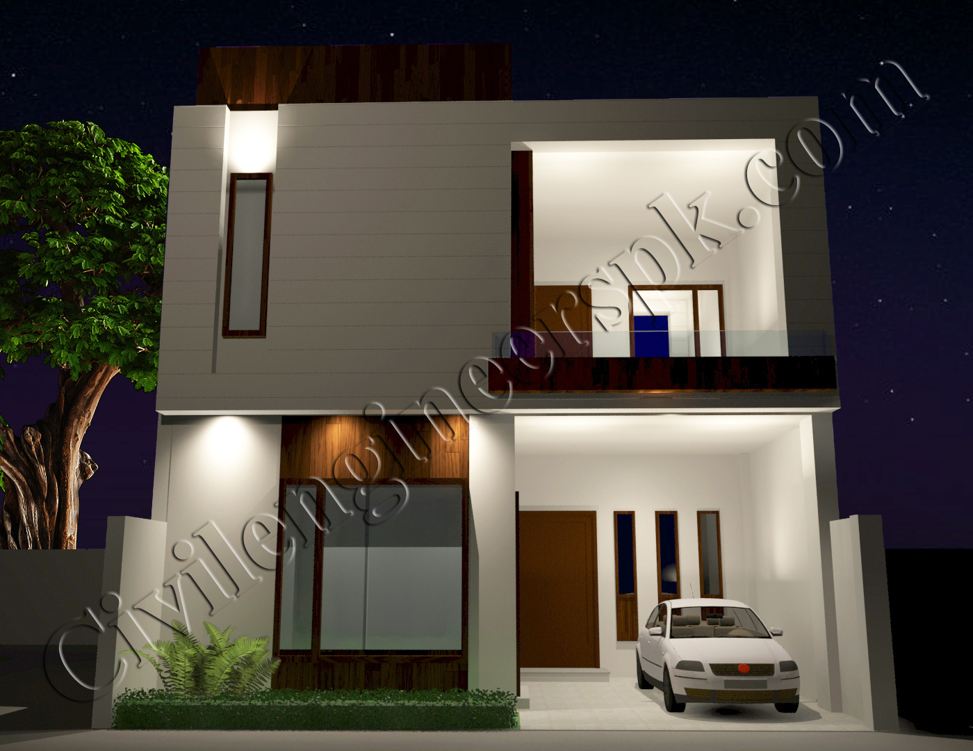 New 5 Marla House Plan With 3d Views Civil Engineers Pk