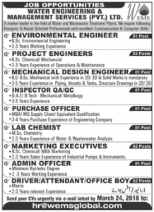 Sunday Jobs Civilengineerspk 18-3-2018