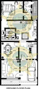 New 5 Marla House Plan with 3D Views