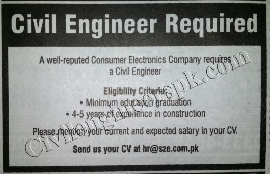 Sunday Jobs Civilengineerspk 9-12-2018