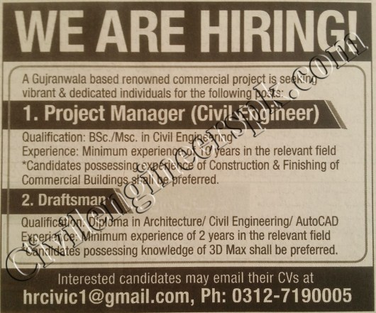 Sunday Jobs Civilengineerspk 20-1-2019