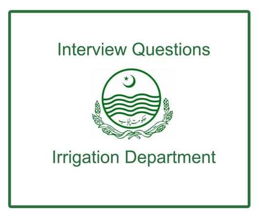 PPSC Interview Questions Irrigation