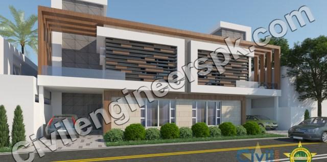10 Marla Duplex House Plan