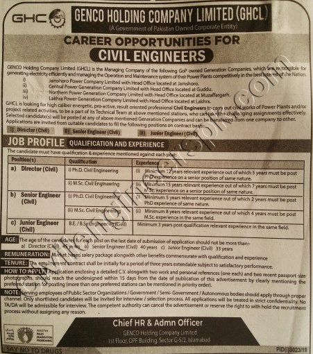 Sunday Jobs Civilengineerspk 8-12-2019