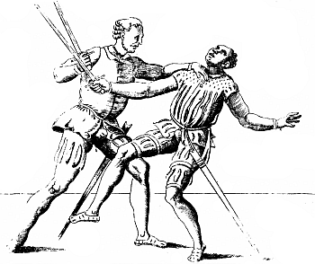Quarterstaff. Stick Fighting Created In The Middle Period