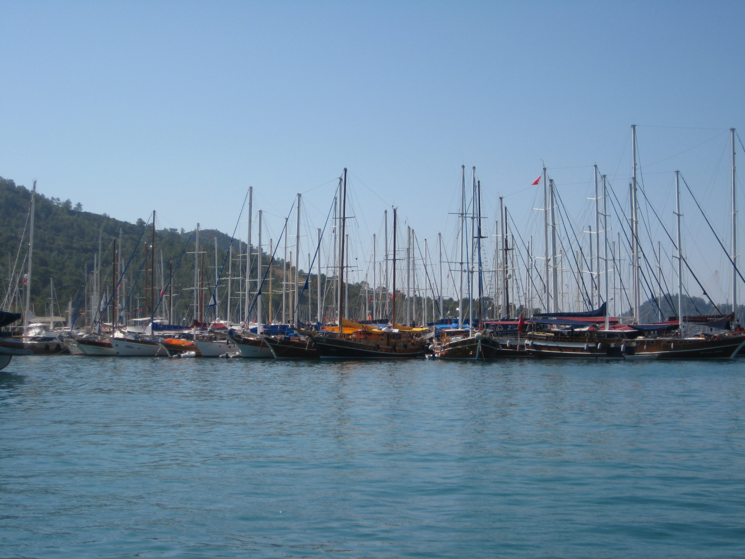 The harbor in Gocek is where we boarded our boat, the Ercan.